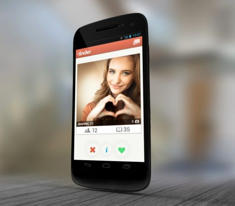 Tinder mobile dating app